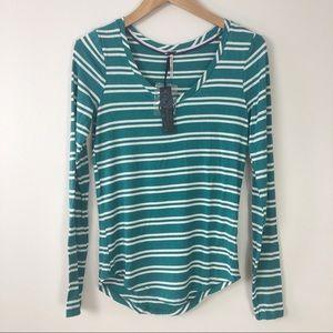 Super soft striped long sleeve tee shirt